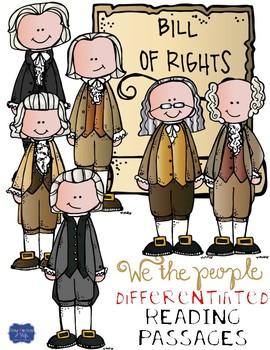 bill of rights differentiated close reading passages questions rh teacherspayteachers com Bill of Rights Art bill of rights clipart free