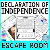Declaration of Independence ESCAPE ROOM! Decode Excerpts- No Props!! Civics