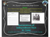 Declaration of Independence Entire Unit- Interactive Notebook