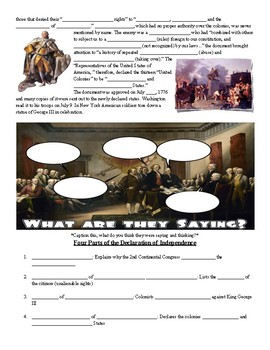 Declaration of Independence Fill in the Blank Notes & Google Slides