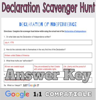 image relating to Printable Declaration of Independence Text named Declaration of Flexibility: Google Docs Scavenger Hunt [PRINTABLE Incorporated]