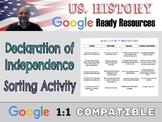 Declaration of Independence: Google Docs Sorting Activity