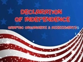 Declaration of Independence- Graphic Organizers, Assessments, Answer Keys