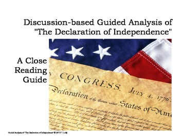 """""""Declaration of Independence"""" Guided Analysis"""