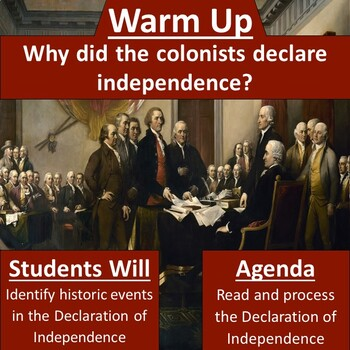 Declaration of Independence - Vocab, History, and Interpretation