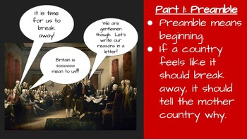 Declaration of Independence Interactive Notebook Lesson
