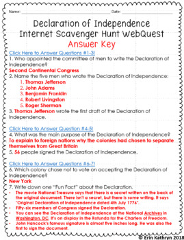 graphic regarding Printable Internet Scavenger Hunt identify Declaration of Liberty Net Scavenger Hunt WebQuest
