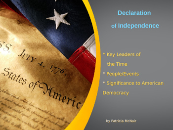 Declaration of Independence-Key Leaders, Events, & Significance to Democracy