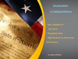 Declaration of Independence-Key Leaders, Events, & Signifi