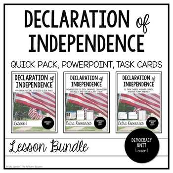 Declaration of Independence and Bill of Rights. American Founding documents Laminated 3 pack US Constitution
