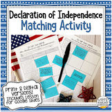 Declaration of Independence Matching Activity (Distance Le