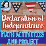 Declaration of Independence Math Activities and Project- L