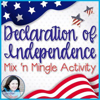 Declaration of Independence Mix 'n Mingle Grievances Activity: Grades 5-12