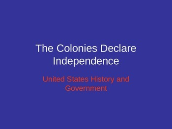 Government: Declaration of Independence Notes