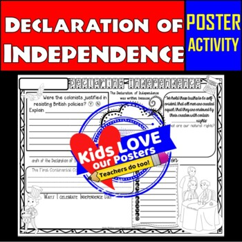Declaration of Independence Activity Poster