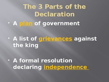 Declaration of Independence PowerPoint