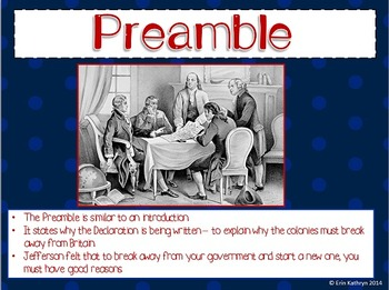 Declaration of Independence PowerPoint and Foldable Mini Bundle