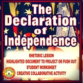 The Declaration of Independence Rhetoric Presentation and Activity