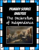 Declaration of Independence Primary Source Analysis Readin