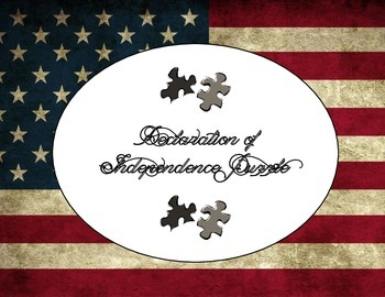 Declaration of Independence Puzzle