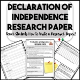 Declaration of Independence Research Paper