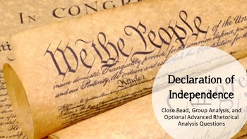 Declaration of Independence - Rhetorical Analysis