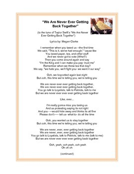 """Declaration of Independence Song to """"We Are Never Ever Getting Back Together"""""""