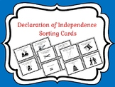 Declaration of Independence Sorting Cards