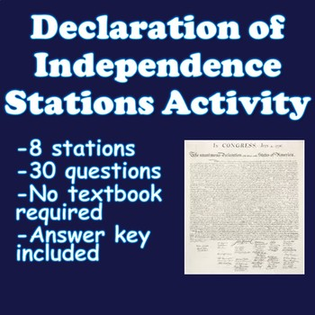 Declaration of Independence Stations Activity