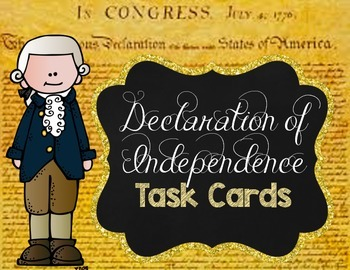 Declaration of Independence Task Cards {Scoot}