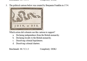 Declaration of Independence Tests