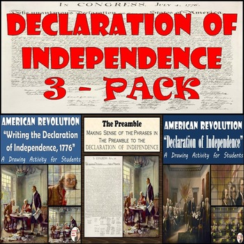 Declaration of Independence - Two Painting Recreations & Declaration Preamble