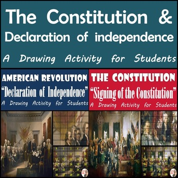 Declaration of Independence & U.S. Constitution - Painting