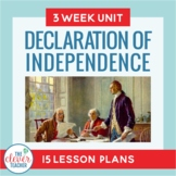 Declaration of Independence Unit   Distance Learning  for