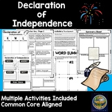 Declaration of Independence Unit -Common Core