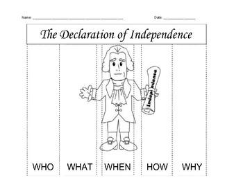 Declaration of Independence W's Worksheet