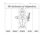 Declaration of Independence W's Worksheet