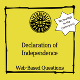 Declaration of Independence:  Web-Based Questions!