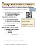 Declaration of Independence WebQuest and QR Code Activity