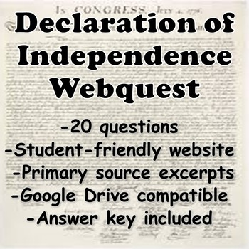 Declaration of Independence Webquest