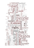 Declaration of Independence - Word Art Poster Prints