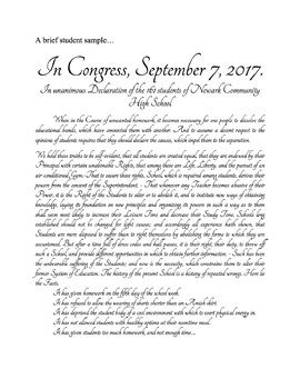 Declaration of Independence - Write Your Own!