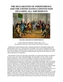 Declaration of Independence and U S Constitution