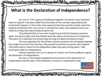 Declaration of Independence and US Constitution