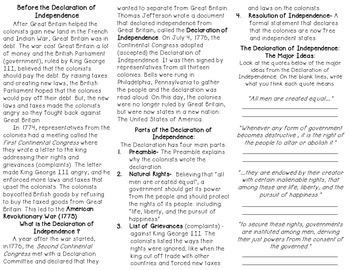Declaration of Independence Brochure