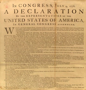 Declaration of Independence for Kids