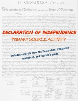 Declaration of Independence primary source translation and