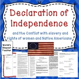 Declaration of Independence vs. Rights of slaves. women, and Native Americans