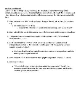 Declaration of Independence_break-up letter