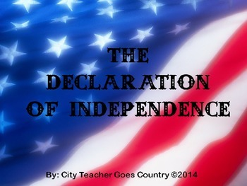 Declaration of Independence PowerPoint - Celebrate Freedom Week